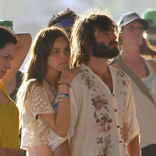 Isabel Lucas, Angus Stone in Celebrities at The 2011 Coachella Valley Music and Arts Festival - Day 3