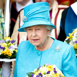Queen Elizabeth II in The Maundy Service at Westminster Abbey