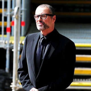 George Michael in Celebrities Seen Filming During Preparations for The Royal Wedding