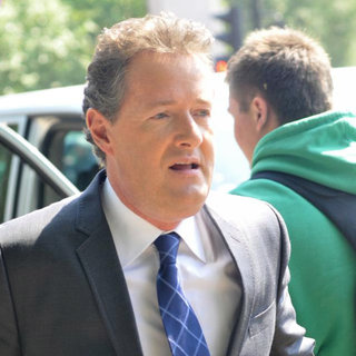 Piers Morgan in Celebrities Seen Filming During Preparations for The Royal Wedding