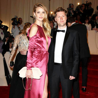 Rosie Huntington-Whiteley, Christopher Bailey in Alexander McQueen: Savage Beauty Costume Institute Gala