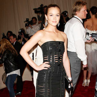 Leighton Meester in Alexander McQueen: Savage Beauty Costume Institute Gala