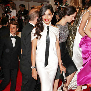 Freida Pinto in Alexander McQueen: Savage Beauty Costume Institute Gala
