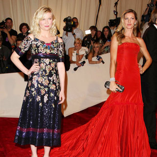 Kirsten Dunst, Gisele Bundchen in Alexander McQueen: Savage Beauty Costume Institute Gala