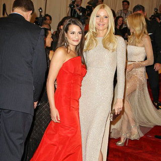 Lea Michele, Gwyneth Paltrow in Alexander McQueen: Savage Beauty Costume Institute Gala