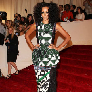 Solange Knowles in Alexander McQueen: Savage Beauty Costume Institute Gala