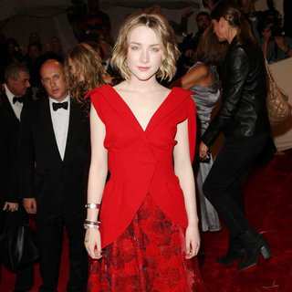 Saoirse Ronan in Alexander McQueen: Savage Beauty Costume Institute Gala