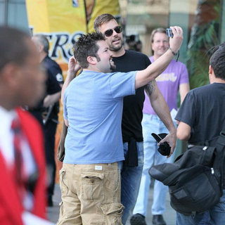 Ricky Martin in Celebrities Arrive at The Staples Center for Game 1 of The NBA Western Conference Semi-Finals