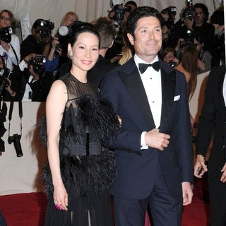 Lucy Liu, Matteo Marzotto in Alexander McQueen: Savage Beauty Costume Institute Gala