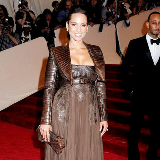 Alicia Keys in Alexander McQueen: Savage Beauty Costume Institute Gala