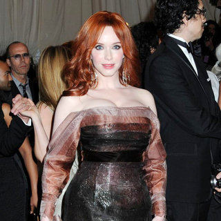 Christina Hendricks in Alexander McQueen: Savage Beauty Costume Institute Gala