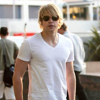 Chord Overstreet - Celebrities Arrive at The Staples Center for Game 1 of The NBA Western Conference Semi-Finals