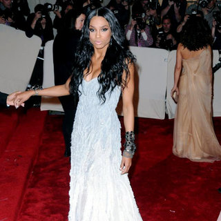 Ciara in Alexander McQueen: Savage Beauty Costume Institute Gala