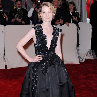 Mia Wasikowska in Alexander McQueen: Savage Beauty Costume Institute Gala