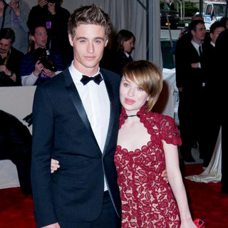 Max Irons, Emily Browning in Alexander McQueen: Savage Beauty Costume Institute Gala
