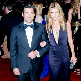 Patrick Dempsey, Jill Fink in Alexander McQueen: Savage Beauty Costume Institute Gala