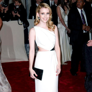 Emma Roberts in Alexander McQueen: Savage Beauty Costume Institute Gala