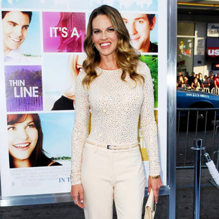 "Hilary Swank in Los Angeles Premiere of ""Something Borrowed"""