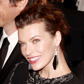 Milla Jovovich in Alexander McQueen: Savage Beauty Costume Institute Gala