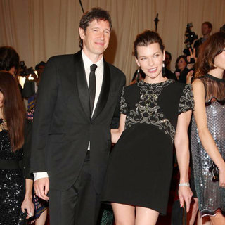 Paul W.S. Anderson, Milla Jovovich in Alexander McQueen: Savage Beauty Costume Institute Gala