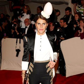 Anna Dello Russo in Alexander McQueen: Savage Beauty Costume Institute Gala
