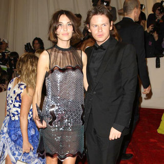 Alexa Chung, Christopher Kane in Alexander McQueen: Savage Beauty Costume Institute Gala