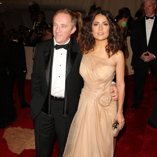 Francois-Henri Pinault, Salma Hayek in Alexander McQueen: Savage Beauty Costume Institute Gala