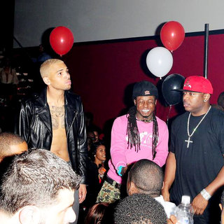 Chris Brown, Lil Wayne in The 22nd Birthday Party of Chris Brown