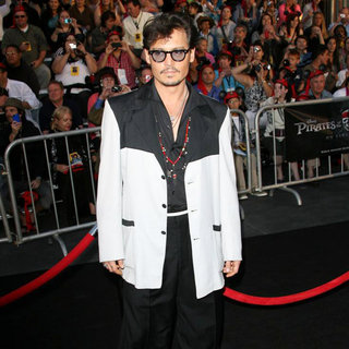 Johnny Depp in 'Pirates of the Caribbean: On Stranger Tides' World Premiere
