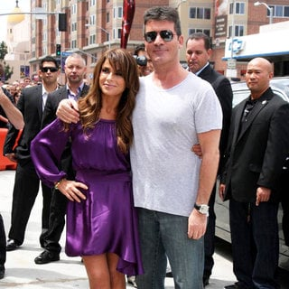 Paula Abdul, Simon Cowell in The 'The X Factor' Auditions
