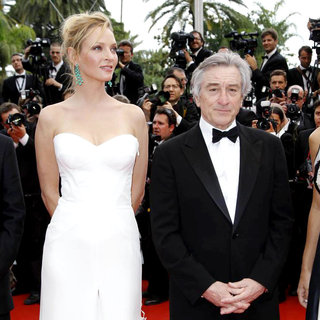 Uma Thurman, Robert De Niro in 2011 Cannes International Film Festival - Day 1 Opening Ceremony and Midnight in Paris Premiere
