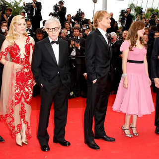 Michael Sheen, Rachel McAdams, Woody Allen, Owen Wilson, Lea Seydoux, Adrien Brody in 2011 Cannes International Film Festival - Day 1 Opening Ceremony and Midnight in Paris Premiere