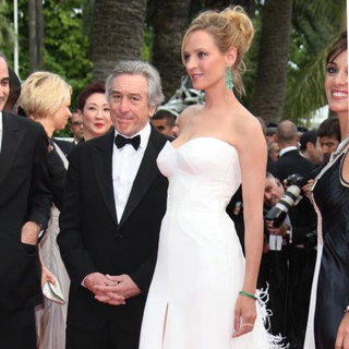 Robert De Niro, Uma Thurman in 2011 Cannes International Film Festival - Day 1 Opening Ceremony and Midnight in Paris Premiere