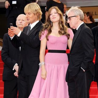 Owen Wilson, Lea Seydoux, Woody Allen in 2011 Cannes International Film Festival - Day 1 Opening Ceremony and Midnight in Paris Premiere