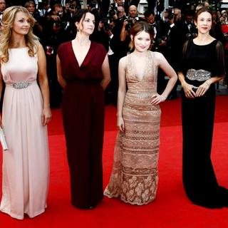 Rachael Blake, Julia Leigh, Emily Browning, Jessica Brentnall in 2011 Cannes International Film Festival - Day 2 - Sleeping Beauty - Premiere