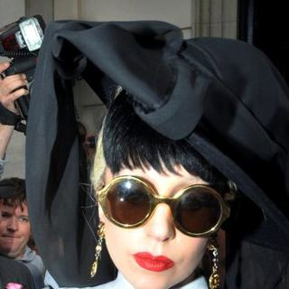Lady GaGa in Lady GaGa Mobbed by Hundreds of Fans as She Leaves Her Hotel