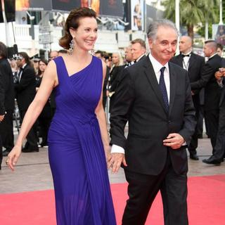 Carole Bouquet, Jacques Attali in 2011 Cannes International Film Festival - Day 2 - Sleeping Beauty - Premiere