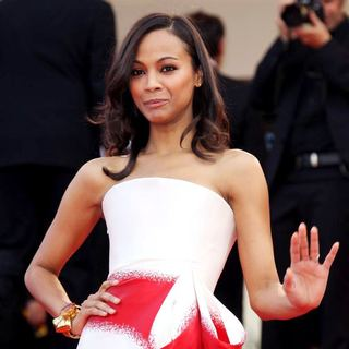 Zoe Saldana in 2011 Cannes International Film Festival - Day 6 - The Tree of Life - Premiere