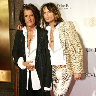 Joe Perry, Steven Tyler in Fashion Rocks 2007 - Arrivals