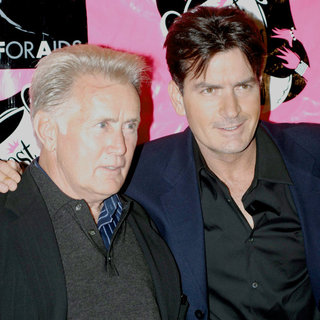 Martin Sheen, Charlie Sheen in Charlie Sheen and Martin Sheen Best in Drag AIDS Benefit