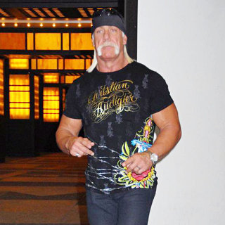 Hulk Hogan in Hulk Hogan Outside MTV TRL Studios in Times Square