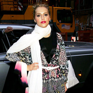 Brittany Murphy in Mercedes-Benz Fashion Week Fall 2008 - Matthew Williamson - Outside - wenn5085238