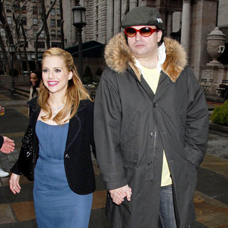 Brittany Murphy in Mercedes Benz Fashion Week Fall 2008 - Celebrities leaving Bryant Park - wenn5085459