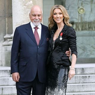 Celine Dion, Rene Angelil in Celine Dion Honoured with The French Legion of Honour