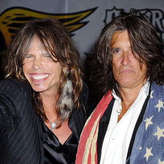 Steven Tyler, Joe Perry in Aerosmith launch the new video game 'Guitar Hero: Aerosmith'
