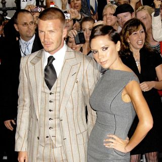 David Beckham, Victoria Adams in David Beckham and Victoria Beckham Launch Their New Beckham Signature Fragrance Collection - Outside