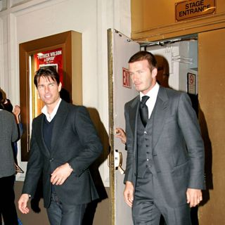 Tom Cruise, David Beckham in Tom Cruise and David Beckham Leaving The Schoenfeld Theatre After Watching 'All My Sons'