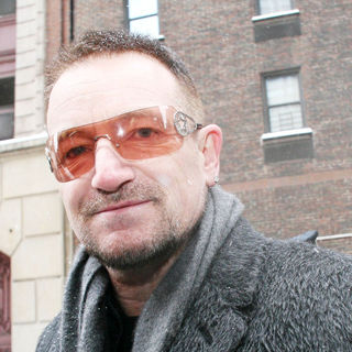 Bono in Bono Outside The Ed Sullivan Theater for 'The Late Show with David Letterman'