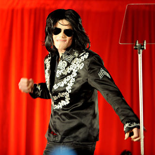 Michael Jackson announces a his live tour at the 02 Arena