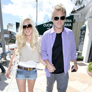 Heidi Montag and Spencer Pratt Go Shopping at Maxfield After Having Lunch at Cafe Med - wenn5275687